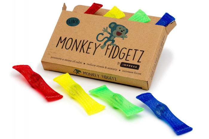 Mesh and Marble Monkey Fidgets (Set of 8)