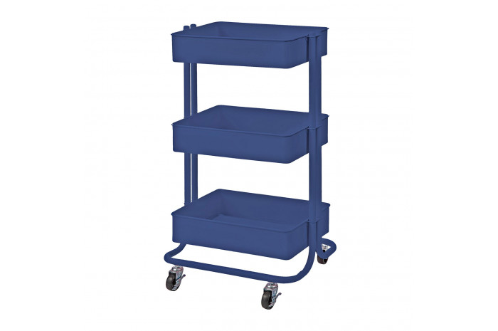 Metal Utility Cart - Blue