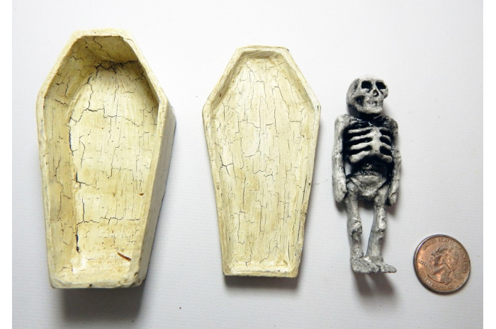 Detailed Coffin with Corpse