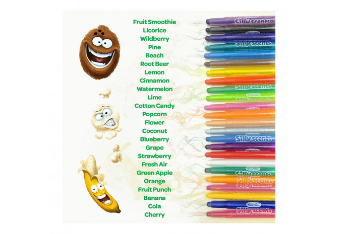Silly Scents Mini Twistables Scented Crayons 24 ct.