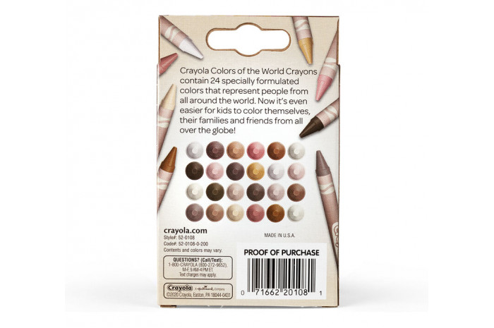 Colors of the World Skin Tone Crayons (24 Count)