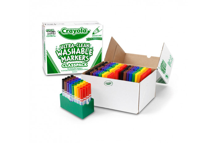 Ultra-Clean Washable Markers for Kids Classpack