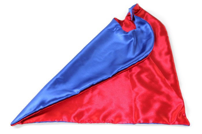 Red and Blue Reversible Cape