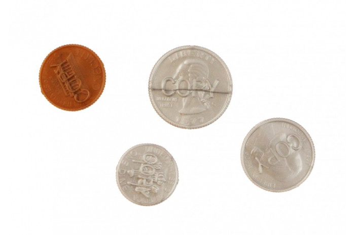 Plastic Coins (Set of 4)