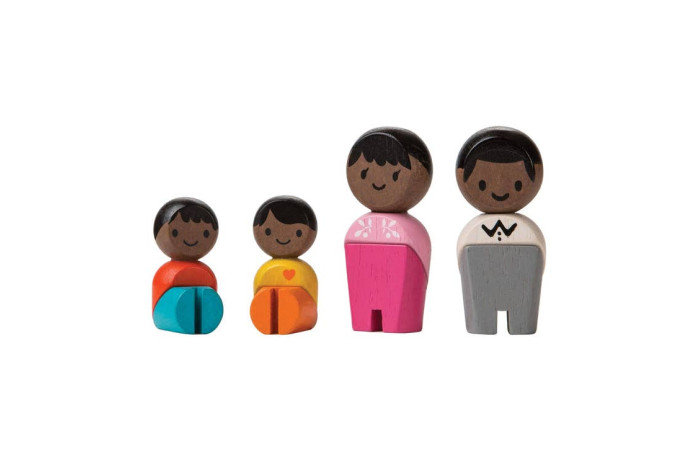 Wooden Block Family - African American