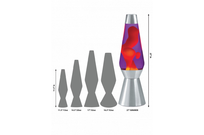 Grande LAVA Lamp - Yellow/Blue/Silver