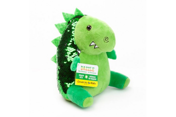 Dazzle the Dinosaur: Mini Weighted Sequin Pet