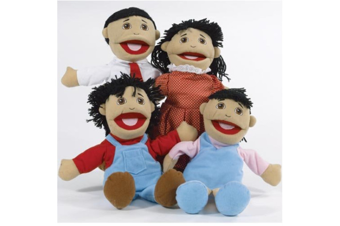Asian Family Puppets