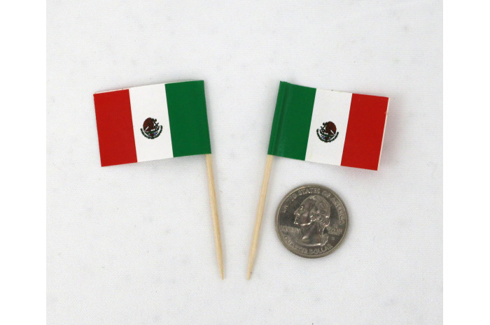 Tiny Mexican Flags (set of 2)