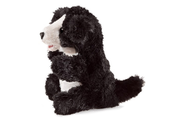 Black and White Dog Puppet