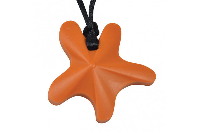 Starfish Chewy Pendant - Orange