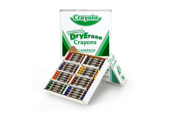 Dry Erase Washable Crayons - 36 Set Classpack