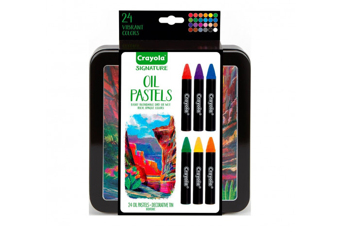 Signature Oil Pastels with Tin