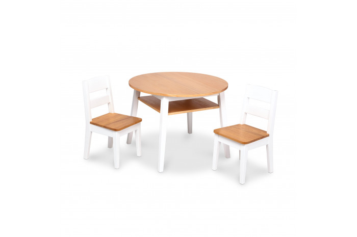 Wooden Round Table & Chairs Set