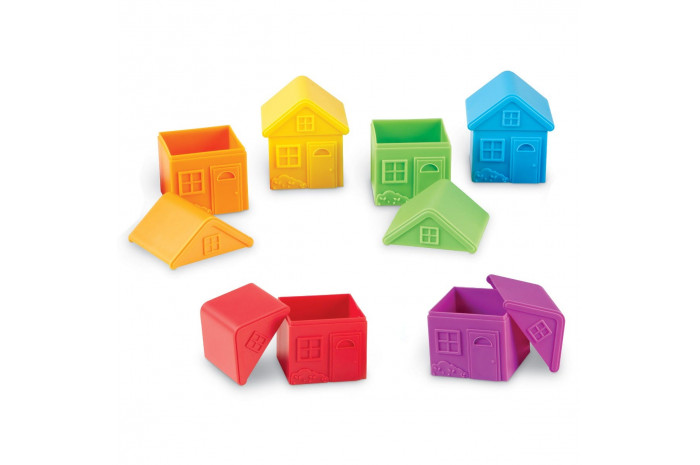 Colorful Houses (Set of 6)