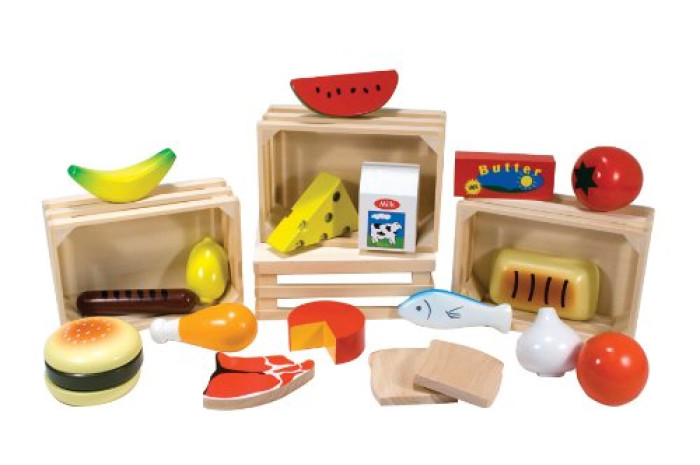Wooden Food Set - 21 Piece