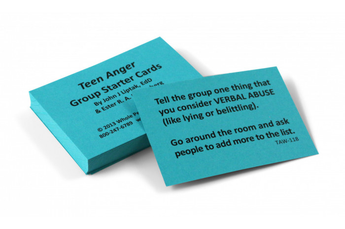 Teen Anger Group Starter Card Deck