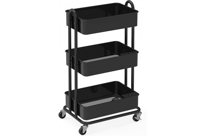 Metal Utility Cart - Black