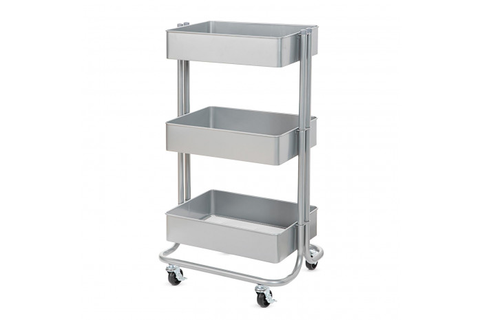 Metal Utility Cart - Gray
