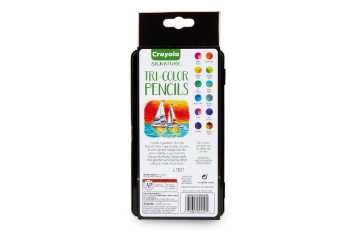 Crayola Tri-Shade Colored Pencils with Tin