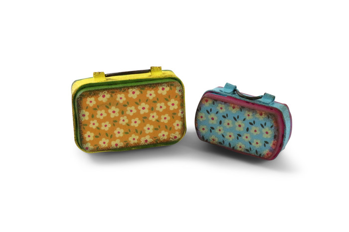 Flower Suitcases (Set of 2)
