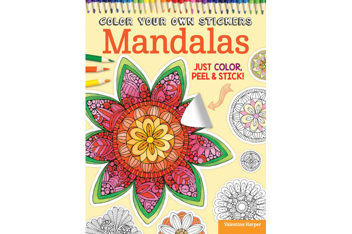 Color Your Own Stickers: Mandalas