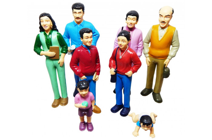 Pretend Play Family- 8 Piece Hispanic