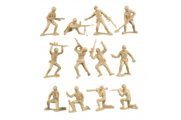100 Piece Tan & Green Army Men