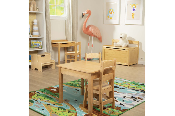 Solid Wood Kids Chairs - set of 2