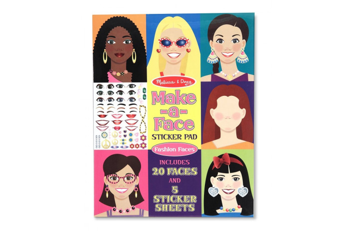 Make A Face Sticker Pad - Fashion Faces