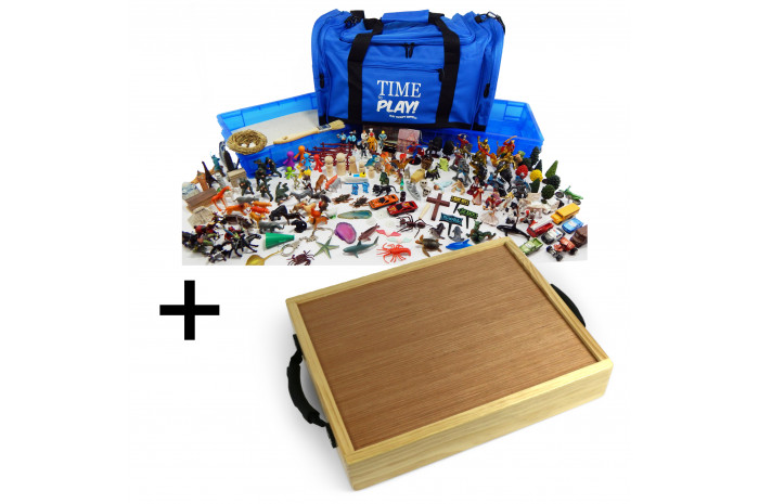 Premium Portable Sand Tray Starter Kit plus Portable Wooden Tray