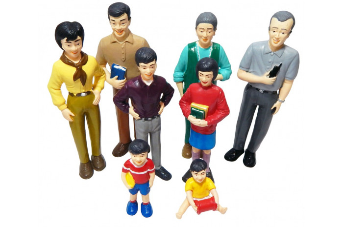 Pretend Play Family- 8 Piece Asian