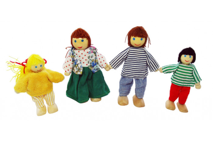 Bendable Wooden Doll Family (Economy)