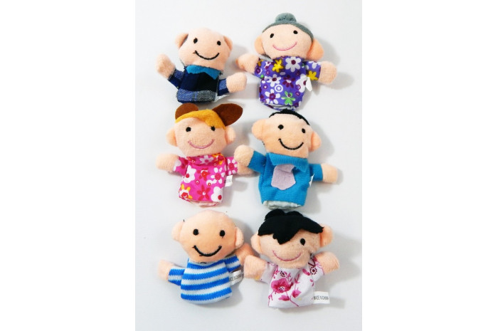Caucasian Family Finger Puppets