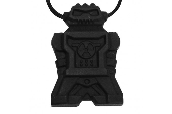 Robot Chewy Necklace-Black