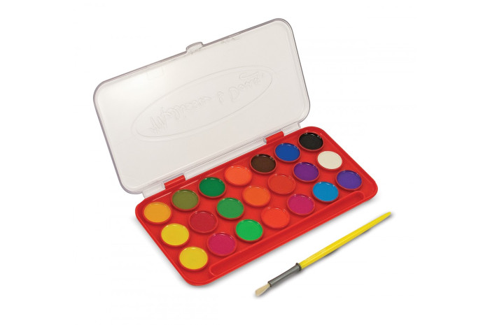 Washable Deluxe Watercolor Paint Set (21 Colors)