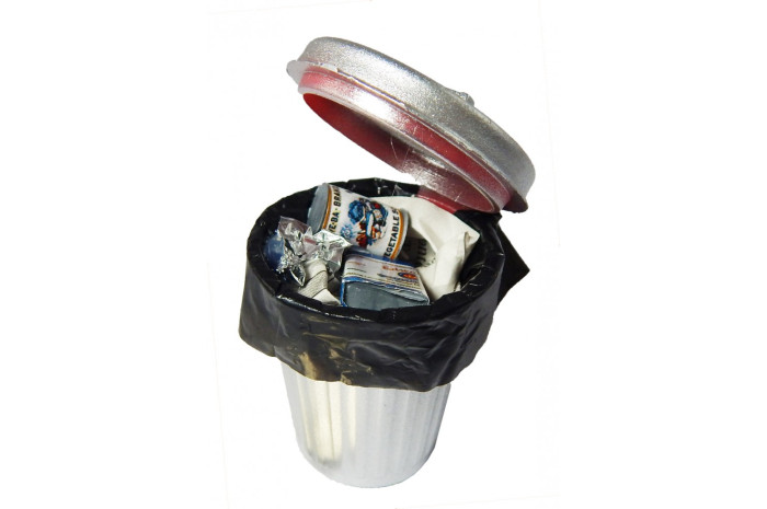 Filled Trash Can