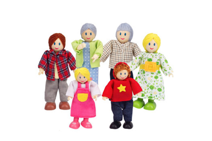 Caucasian Doll Family (6 Piece)