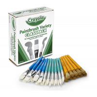 Paint Brush Variety Set 36 Count The Crayola Paintbrush Variety Pack Provides Everything Kids Need To Have Fun With Paint This Pack